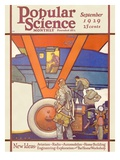 Front Cover of Popular Science Magazine: September 1, 1929 Posters