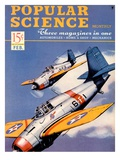 Front cover of Popular Science Magazine: February 1, 1940 Poster