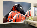 Bengals Chargers Football : San Diego, CA - Cincinnati Bengals Players Huddle Veggmaleri – stort av Lenny Ignelzi