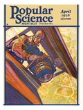 Front Cover of Popular Science Magazine: April 1, 1928 Poster