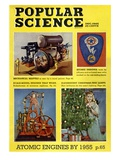 Front cover of Popular Science Magazine: December 1, 1945 Poster