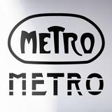 Mini Metro-Black Kalkomania ścienna