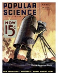 Front cover of Popular Science Magazine: April 1, 1900 Plakaty