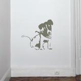 Jack Russel-Mouse - Duvar Çıkartması