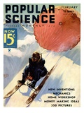Front Cover of Popular Science Magazine: February 1, 1930 Posters
