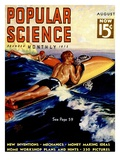 Front cover of Popular Science Magazine: August 1, 1930 Print