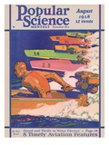 Front Cover of Popular Science Magazine: August 1, 1928 Art