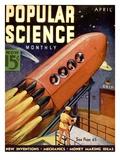 Front Cover of Popular Science Magazine: April 1, 1930 Umělecké plakáty