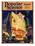 Front Cover of Popular Science Magazine: September 1, 1927 Giclee Print
