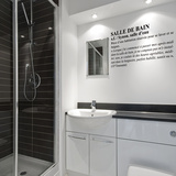 Definition Bathroom-Medium-Black Autocollant mural