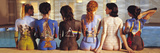 Pink Floyd Back Catalogue, LP-hoezen afgebeeld op de rug van 6 vrouwen Poster