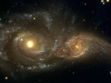 Galaxies Nearly Colliding Photographic Print