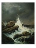 La vague Reproduction procédé giclée par Gustave Doré
