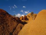 Africa, Namibia, Namib Desert, Damaraland, Spitzkoppe rock Photographic Print by Eddi Boehnke