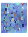 Letters in Blue Space Giclee Print