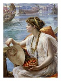 A Roman Boat Race Giclee Print by Edward Poynter