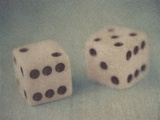 Pair of Dice Photographic Print by Jennifer Kennard