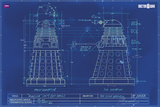 Doctor Who-Blueprint Print