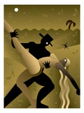 Desert Dancers Reproduction procédé giclée