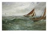 In the Track of the Trawlers Giclee Print by Charles Napier Hemy