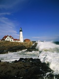Lighthouse on Coastline Photographic Print by Cody Wood