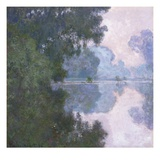 Morning on the Seine, near Giverny Giclee Print by Claude Monet