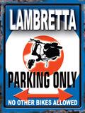 Lambretta Parking Only Plaque en métal
