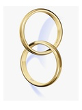 Two interlocked wedding rings Giclee Print by Matthias Kulka