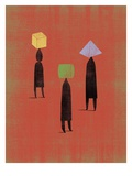 Different Shaped Heads Giclee Print