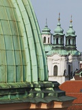 Church Dome and Bell Towers in Prague Photographic Print by William Manning