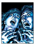 Horrified Couple Lámina giclée