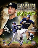 Ryan Braun 2011 NL MVP Portrait Plus Photo
