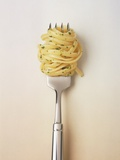 Fork with spaghetti Photographic Print by Oliver Eltinger