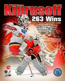 Miikka Kiprusoff Calgary Flames All-Time Wins Leader Composite Photographie