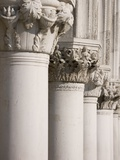 Column Sculptures of Doge's Palace Photographic Print by Tom Grill