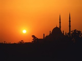 Mohammed Ali Mosque in Cairo, Egypt, at sunset Photographie par Fridmar Damm