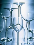 Still life of different wine glasses Photographic Print by Christian Schmidt