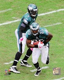 LeSean McCoy & Michael Vick 2011 Action Photo