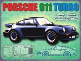 Porsche 911 Plaque en métal