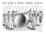"A massive but empty ""Horn of Plenty"" stands in the middle of a group of ha… - New Yorker Cartoon Premium Giclee Print by Roz Chast"