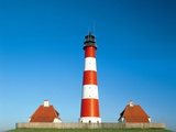 Lighthouse of Westerhever, Germany Photographic Print by Karl-Heinz Haenel