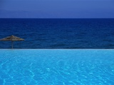Blue of Pool, Sky and Sea Photographic Print