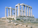 Poseidon Temple in the Sounion National Park,  Attica, Greece Photographic Print by Rainer Hackenberg