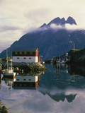 Village on the island of Flakstad, Norway Photographic Print by W. Krecichwost