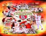 St. Louis Cardinals 2011 World Series Champions PF Gold Composite Photo