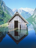 Fisherman's house in the Ober Lake, Bavaria, Germany Photographic Print by Herbert Kehrer