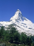 Matterhorn, with snow covered peak, Switzerland, Zermatt Photographic Print by Frank Lukasseck