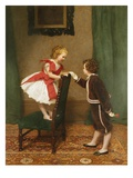 Miss Lily's First Flirtation Premium Giclee Print by James Hayllar