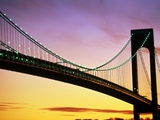 Verrazano Narrows Bridge at Dusk Photographic Print by Alan Schein