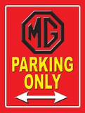 MG Parking Only Plaque en métal